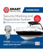 Tyverisikringsmærkning Smart Protection ISR til både og bådmotorer